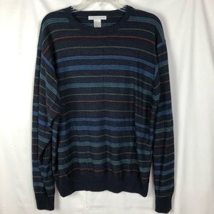 Geoffrey Beene XL Men's Multicolor Striped Sweater